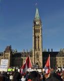 Suspension de protestation de Canadiens du Parlement Photographie stock