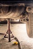 Suspension de voiture entretien Images stock