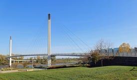 Suspension foot bridge stock photos