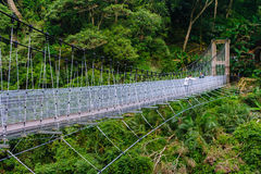 Suspension Footbridge crossing the gorge Royalty Free Stock Photo