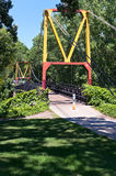 Suspension Footbridge in Dinkytown Royalty Free Stock Photo