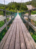 Suspension footbridge, Fundy Trail, NB Royalty Free Stock Photography