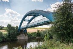 Suspension footbridge Stock Photo