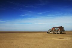 Suspension house on beach royalty free stock photography