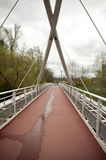 Suspension metallic bridge Royalty Free Stock Images