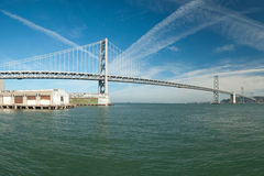 Suspension Oakland Bay Bridge in San Francisco Royalty Free Stock Images