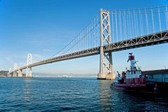 Suspension Oakland Bay Bridge in San Francisco Stock Image