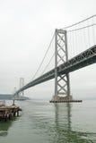Suspension Oakland Bay Bridge in San Francisco Stock Images