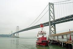 Suspension Oakland Bay Bridge in San Francisco Stock Photo
