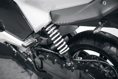 Sport motorbike. Suspension of the sport motorbike Stock Photo