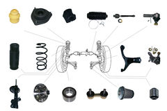 Suspension and steering parts Stock Photography