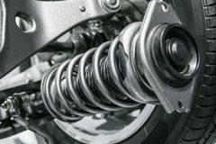 Suspension System. Cars suspension System close up picture Royalty Free Stock Image