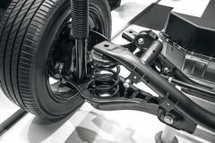 Suspension system. Of the car Royalty Free Stock Images