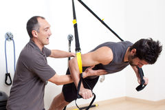 Suspension training Royalty Free Stock Photo