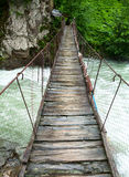 Suspension walking bridge Royalty Free Stock Photography