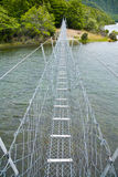 Suspension walking bridge Stock Photos