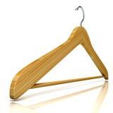 Suspensiones de ropa de madera Imagen de archivo libre de regalías
