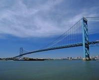 Suspention bridge in Windsor, Ontario Royalty Free Stock Photos