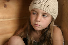 Suspicion. Girl with doubtful or questioning look on face Stock Photos