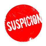 Suspicion rubber stamp Royalty Free Stock Photography