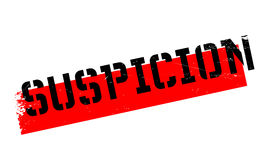 Suspicion rubber stamp Stock Image