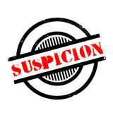 Suspicion rubber stamp Royalty Free Stock Photos