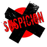 Suspicion rubber stamp Stock Images