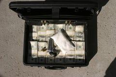 Suspicious briefcase Stock Image