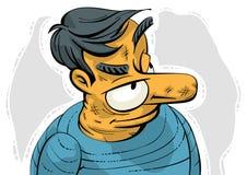 Suspicious grumpy old man Stock Image