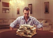 Suspicious lender Stock Images