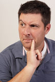 Suspicious man Royalty Free Stock Photography