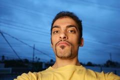 Suspicious man Royalty Free Stock Image