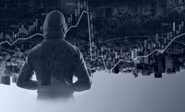 Suspicious man in hoody. Personal safety concept stock photography