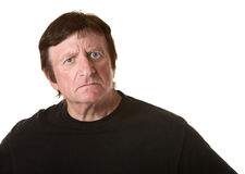 Suspicious Mature Man Royalty Free Stock Photos