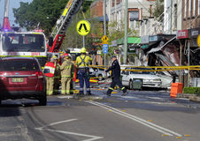Suspicious shop blast explosion in Rozelle Sydney Royalty Free Stock Photos