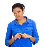 Suspicious woman Stock Image