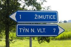 Suspiro del camino en campo checo Fotografía de archivo libre de regalías
