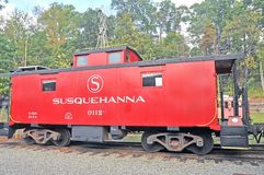 Susquehanna Railroad Caboose Stock Photography