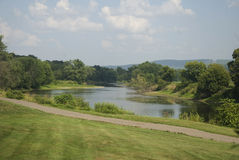 Susquehanna River 2. Susquehanna River Bank with Farm royalty free stock photo