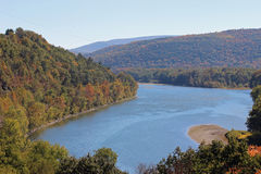 Susquehanna river fall view Royalty Free Stock Photography