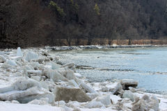 Susquehanna River Ice Royalty Free Stock Images