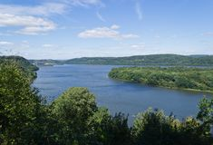 Susquehanna River Scenic View. Scenic view of the Lake Aldred section of the Susquehanna River showing Weise Island, foreground, and in the distance Safe Harbor royalty free stock photos