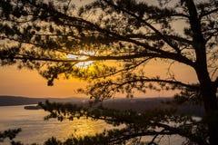 Susquehanna River Sonnenuntergang Stockfotografie