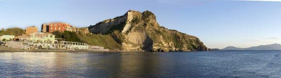 Susset del mar de Monte di Procida Italian Fotografía de archivo