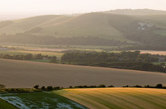 Sussex-Abstiege bei Sonnenuntergang lizenzfreie stockfotos