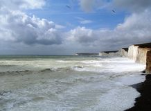 Sussex Coast - Seven Sisters Stock Photo