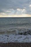 Sussex coastline in Winter. Royalty Free Stock Image