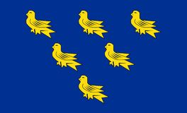 Sussex okręgu administracyjnego flaga zdjęcie stock