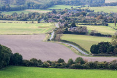SUSSEX, UK/EUROPE - 25 DE SEPTIEMBRE: Campo del balanceo en Sussex Fotos de archivo libres de regalías