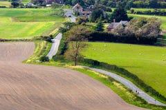 SUSSEX, UK/EUROPE - 25 DE SEPTIEMBRE: Campo del balanceo en Sussex Fotografía de archivo libre de regalías